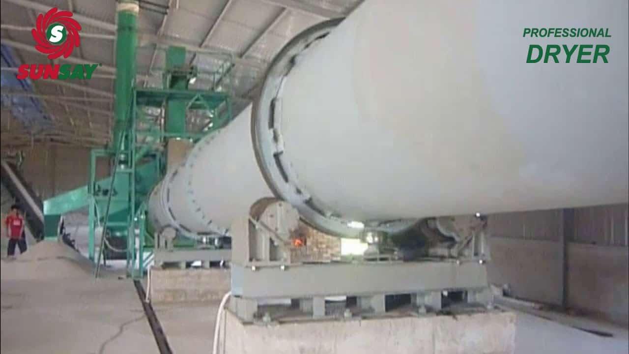 Máy sấy thùng quay sấy cát Bình Thuận
