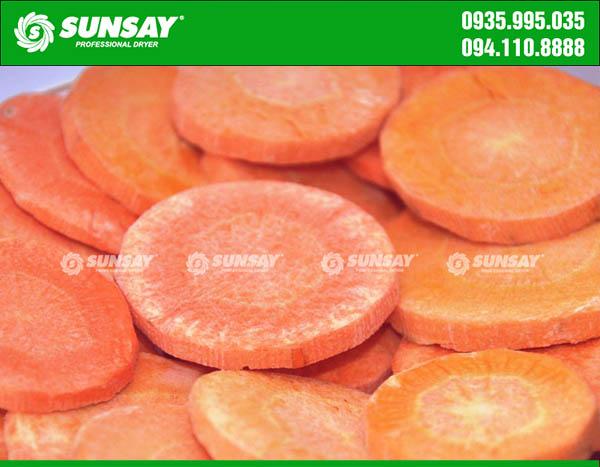 Cà rốt sấy khô bằng máy sấy thăng hoa mini
