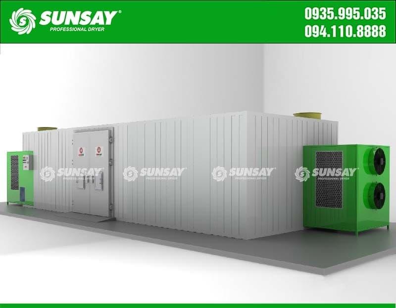Thiết kế máy sấy bơm nhiệt SUNSAY